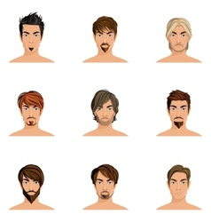 Man hair style set vector