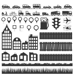 City elements vector
