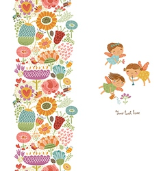 Cute pattern with fairies vector