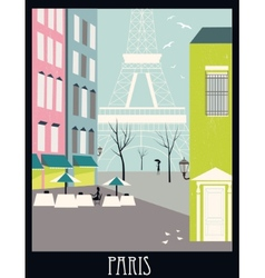 Paris street vector