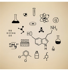 Chemical symbols vector
