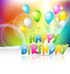 Creative background of birthday vector