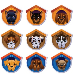 Dog stickers set vector