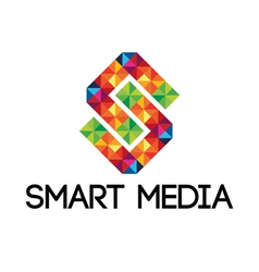 Colorful smart media logo vector