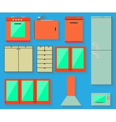 Accessories of kitchen design vector