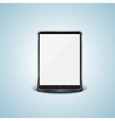 Black tablet pc with white screen vector