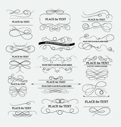 Calligraphic elements for design vector