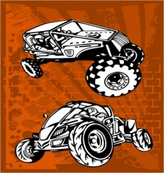Buggy and bike vector