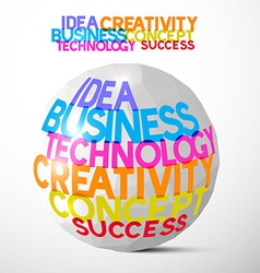 Idea business technology creativity concept vector
