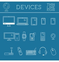 Trendy pc computer mobile gadgets and device vector