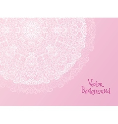Abstract white doily vignette background vector