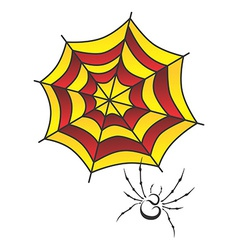Spider web art vector