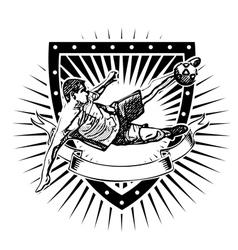Soccer shield 2 vector