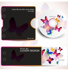 Cover design template of disk and business card bu vector
