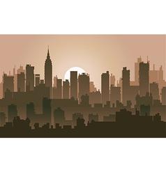 Silhouette skyline vector