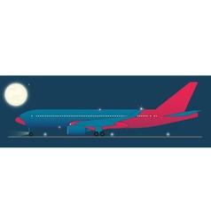 Red eye flight vector