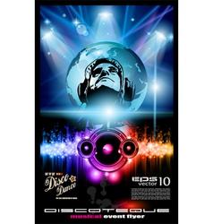Disco poster vector
