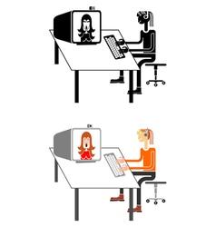 Teen online vector