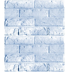 Seamless pattern of blue brick wall vector