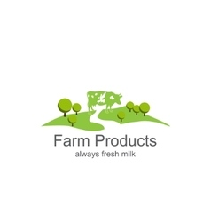 Farm products vector