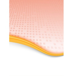 Geometrical red folder with gold border vector