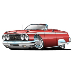 62 galaxie 500 convertible cartoon vector
