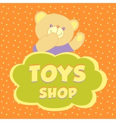 Toys shop background vector