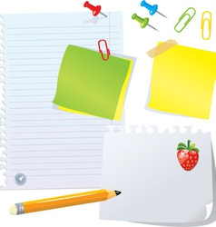 Set of office stationery vector