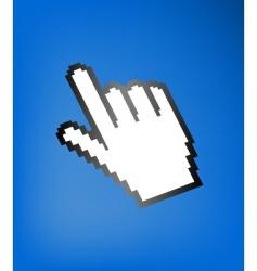 Computer hand cursor vector