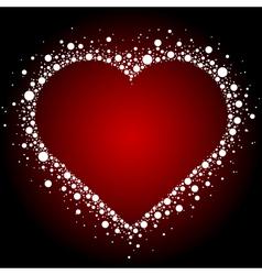 White heart frame background vector