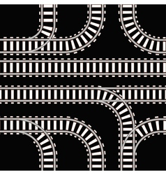 Seamless background of railway tracks vector