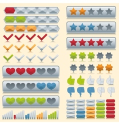 Rating icons set vector