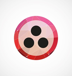 Circle diagram circle pink triangle background vector