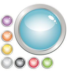 Glossy button vector
