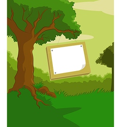 Wood plate vector
