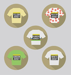Modern flat design cycling jersey vector