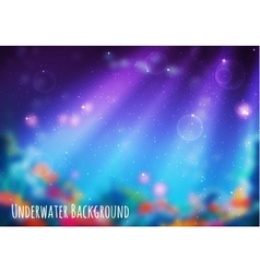 Blur background with underwater cave vector