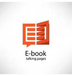 E -book electronic library icon vector