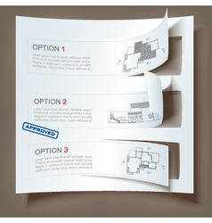 Set of architectural web banners vector
