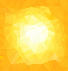 Yellow sun triangular background vector