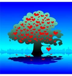 Valentines day tree vector
