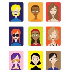Set of female avatar vector
