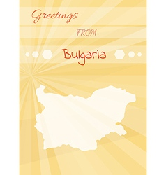 Greetings from bulgaria vector