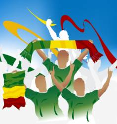 Malian soccer crowd vector