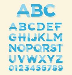 Retro type font vector