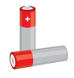 Red batteries vector