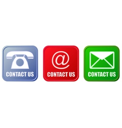 Contact buttons set vector