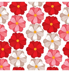 Flower seamless color vector
