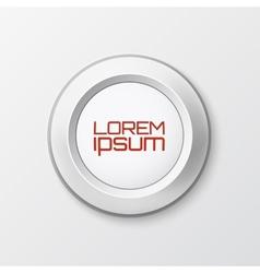 Realistic button icon vector