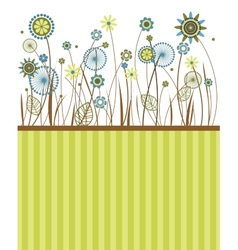 Beautiful flowers greeting card vector